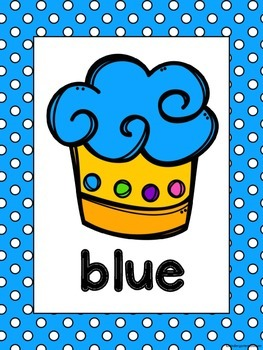 Cupcake Theme Color Word Posters