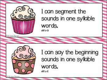 Cupcake I Can Statements