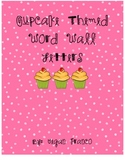 Cupcake Theme Word Wall Letters