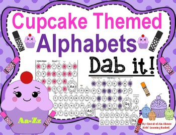 Cupcake Themed Alphabet Dab It!