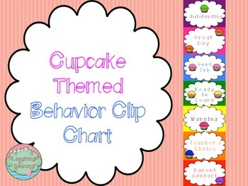 Cupcake Themed Behavior Clip Chart