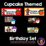 #WackyWednesday Cupcake Themed Birthday Bulletin Board Set