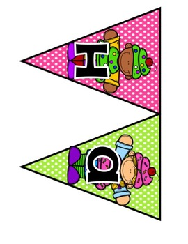 Cupcake Themed Birthday Bulletin Board Set