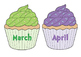 Cupcake Themed Birthday Chart Cut Outs!