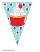 Cupcake Themed Buntings- Customize Your Own Banner!