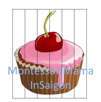 Cupcake Themed Montessori Inspired Activity Set