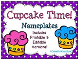 Cupcake Time! Nameplates Editable Bundle