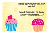 Cupcake Upper and Lower Case Letter Match-Up