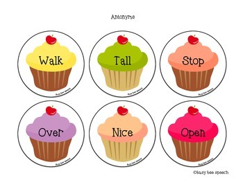 Cupcake Vocabulary FREEBIE