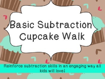 Cupcake Walk: Basic Subtraction