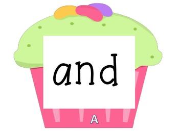 Cupcake Walk- Dolch Pre-primer Sight Words