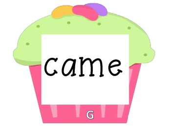 Cupcake Walk- Dolch Primer Sight Words