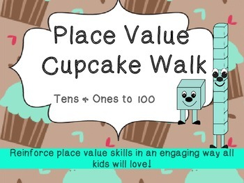 Cupcake Walk- Place Value (Tens & Ones)