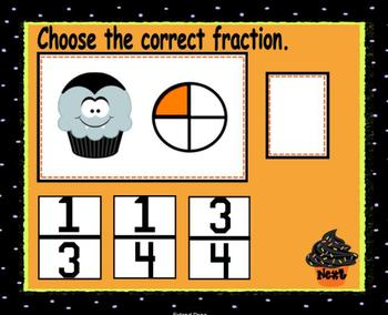 """Cupcake Wars """"Wicked"""" Edition Fraction Game-Smartboard Lesson"""