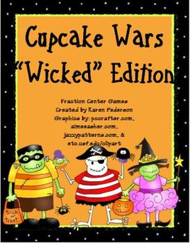 """Cupcake Wars """"Wicked"""" Edition Fractions Unit"""