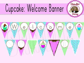 Cupcake: 'Welcome' Banner