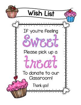 Cupcake Wish List