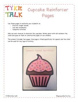 Cupcake Word Practice Reinforcer