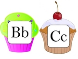 Cupcake Word Wall Letters
