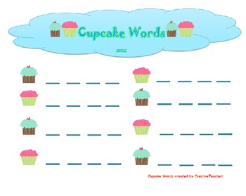 Cupcake Words