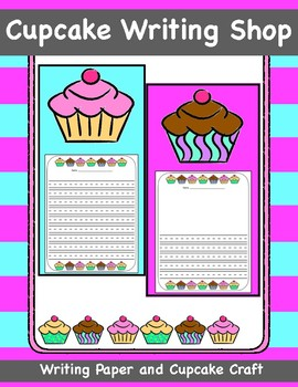 Cupcake Writing Shop, Cupcake Writing Paper and Paper Craft