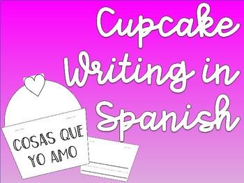 Cupcake Writing Template