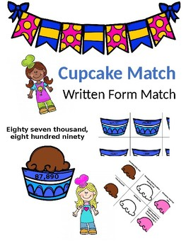 Cupcake Written Form Matching SOL 3.1
