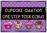 Cupcake addition one-step task cards