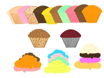 Cupcake and Frosting Clipart