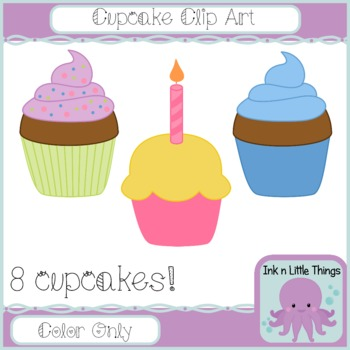 Cupcake clipart - Bright Cupcakes