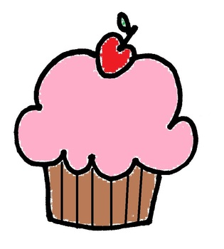 Cupcake clipart- transparent background
