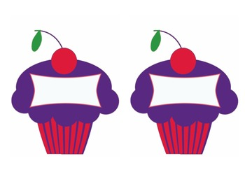 Cupcake name/table tags