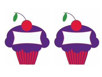 Cupcake name/table tags