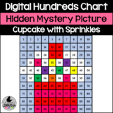 Cupcake with Sprinkles Hundreds Chart Hidden Picture Activity for Math