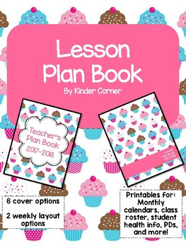 Teacher Planner 2017-2018 – Cupcake Theme