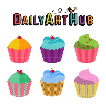 Cupcakes Art Clip Art - Great for Art Class Projects!