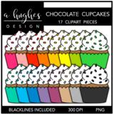 Chocolate Cupcakes Clipart {A Hughes Design}