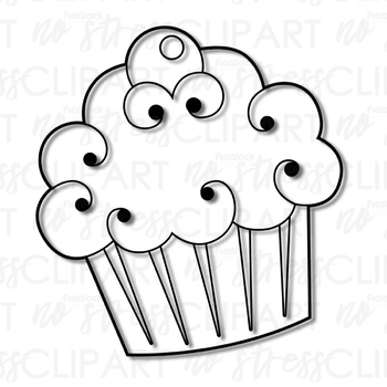 Cupcakes Clip Art (Digital Use Ok!)