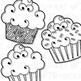 Cupcakes Clip Art Green Zebra Set (Digital Use Ok!)