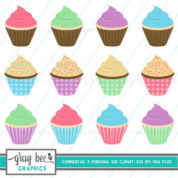 Cupcakes Clip Art Pack