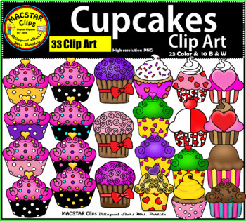 Cupcakes Clip Art  Personal and Commercial Use