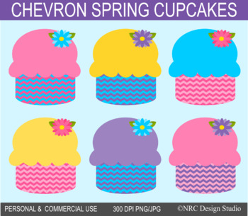 Spring cupcakes clipart commercial use