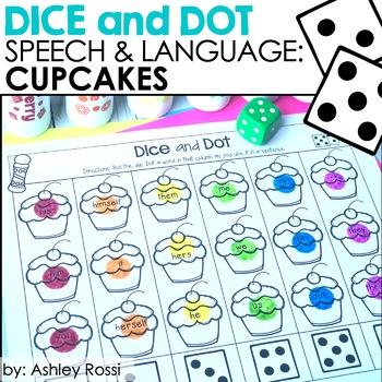 Cupcakes! Dice & Dot For Speech & Language