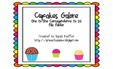 Cupcakes Galore (a 0-20 one to one correspondence Velcro Task)