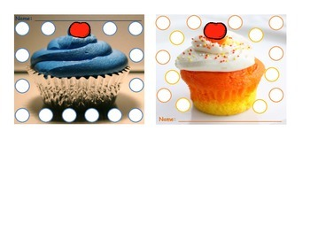 Sticker Charts - Cupcakes