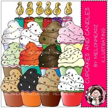 Melonheadz: Cupcakes and Candles clip art