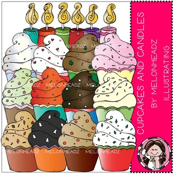 Melonheadz: Cupcakes and Candles clip art