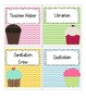Cupcakes and Chevron--Classroom Jobs