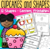 Shapes Activities, Centers and Printables With a Cupcake Theme