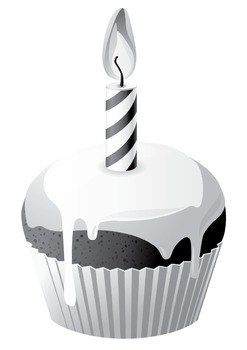 Cupcakes Black and White [ Digital Clip Art - DLC10001 ]